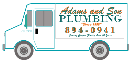 adams and son plumbing truck