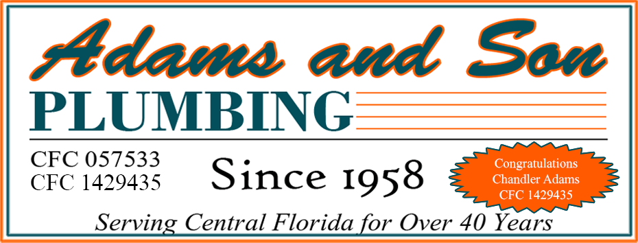 adamsandsonplumbing  since(1958) 894-0941